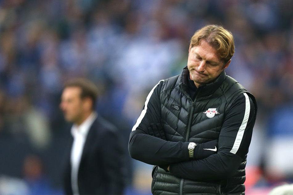 Sichtlich angefressen war der RB-Trainer beim Spiel gegen den FC Ingolstadt am Samstag.