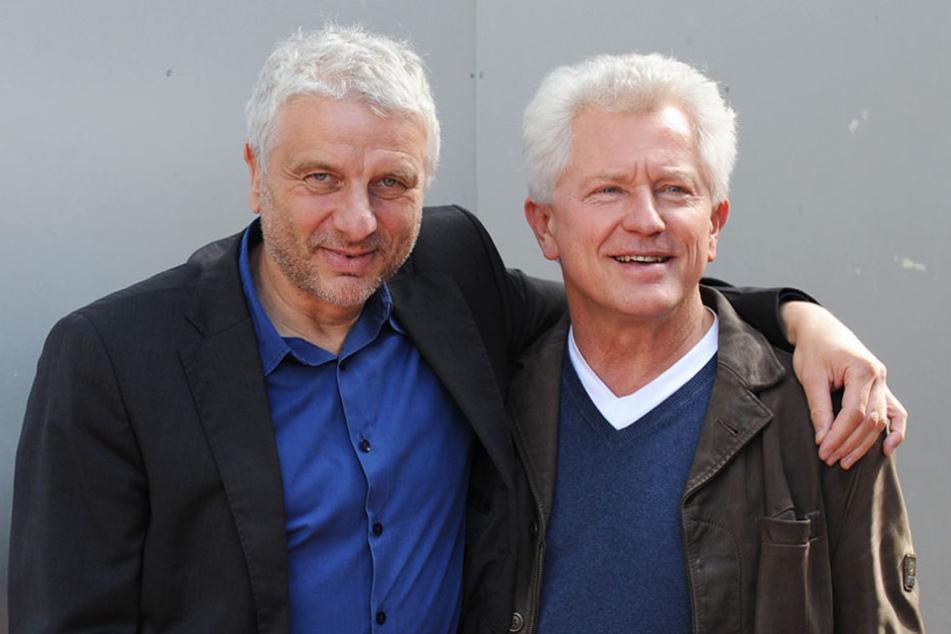 In München auf Verbrecherjagd, in Dresden entspannt zur Lesung - Miroslav Nemec (62, rechts) und  Udo Wachtveitl (57).