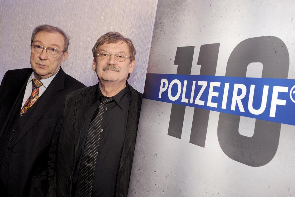 Jaecki Schwarz (75) mit seinem langjährigen Polizeiruf-Partner Wolfgang Winkler (†76, r). (Archivbild)