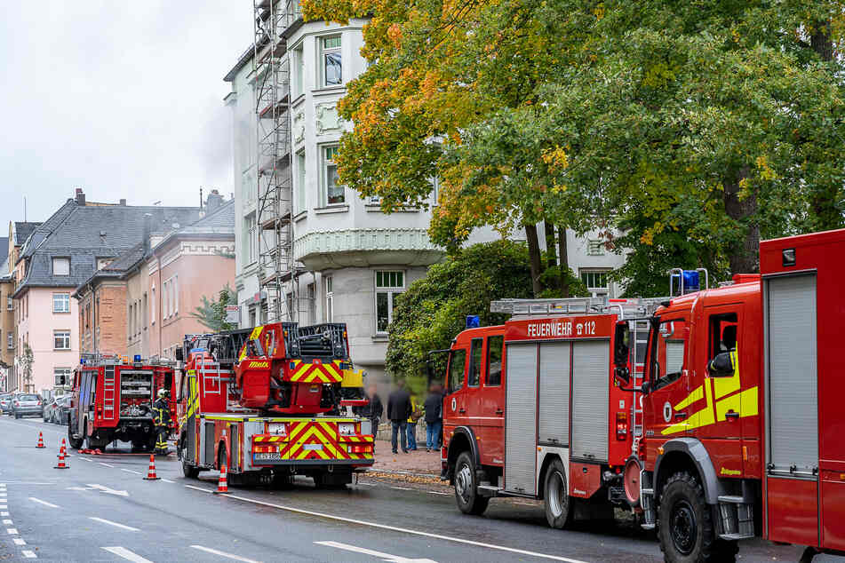 Am Mittwochnachmittag brannte in einer Wohnung in Auerbach ein Sofa.