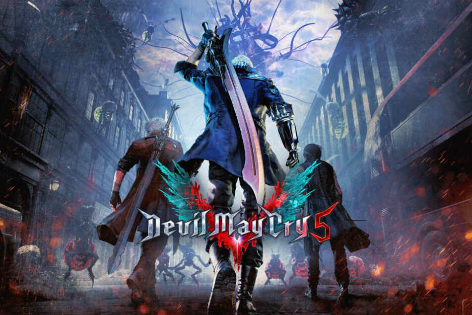 """Mit """"Devil May Cry 5"""" kehrt Capcom zurück zu den Wurzeln der Serie und lässt euch neben den bekannten Helden Dante und Nero auch in die Rolle des mysteriösen V schlüpfen."""