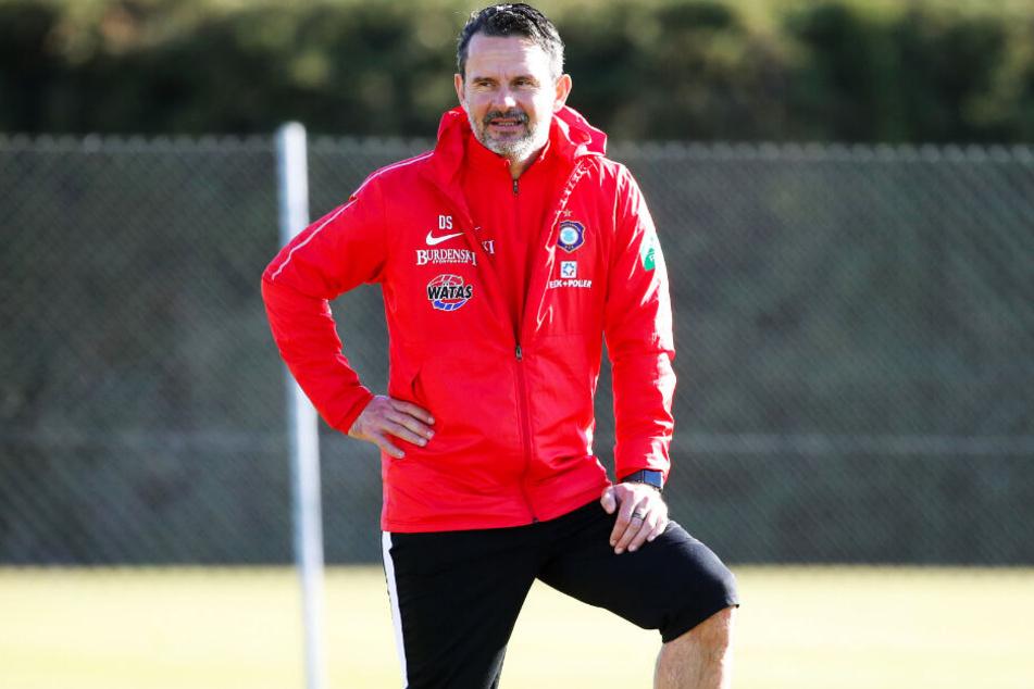 FCE-Trainer Dirk Schuster hält viel von Neuzugang Jacob Rasmussen.