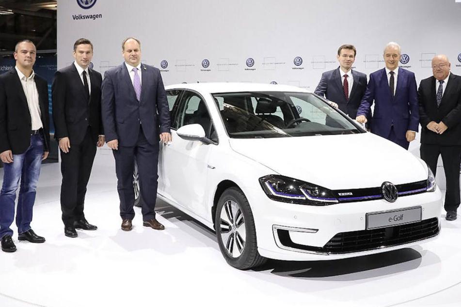 """Am Donnerstag wurde der neue """"VW e-Golf"""" in Dresden vorgestellt."""