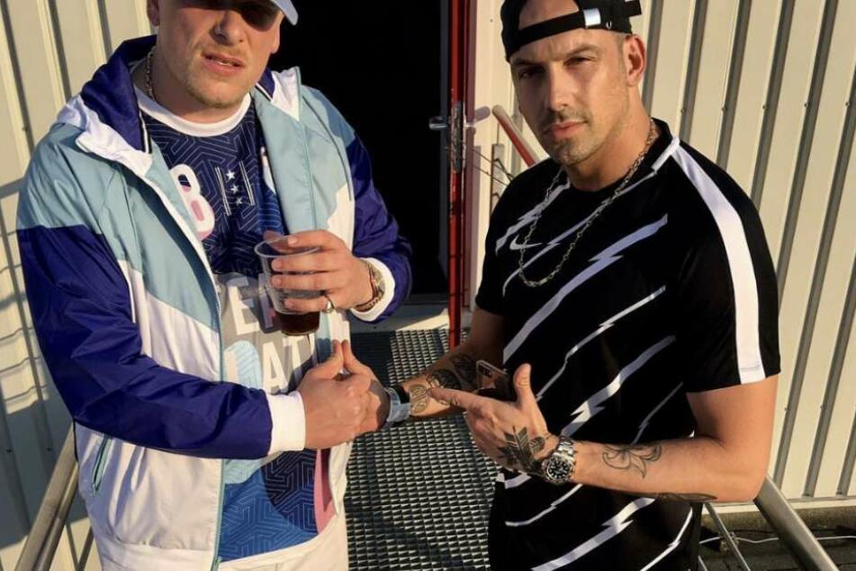 Bonez MC (l) und RAF Camora arbeiten derzeit an einem neuen Album.