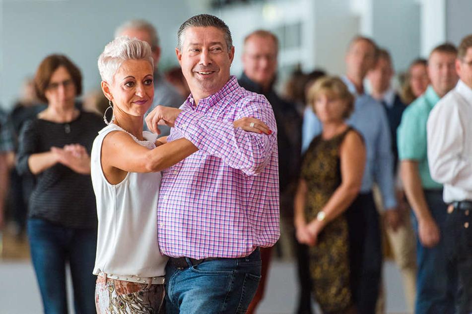 Joachim Llambi zeigte beim Work Shop mit Sindy Hohmann worauf es beim Tango ankommt