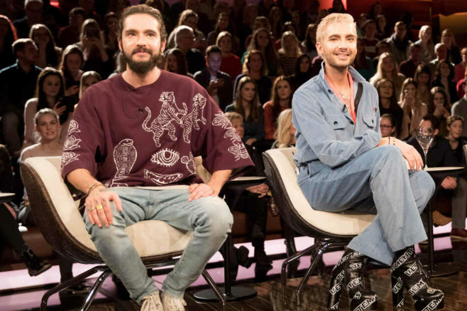 "Tom (links) und Bill Kaulitz waren zu Gast in der Talkshow ""Markus Lanz""."