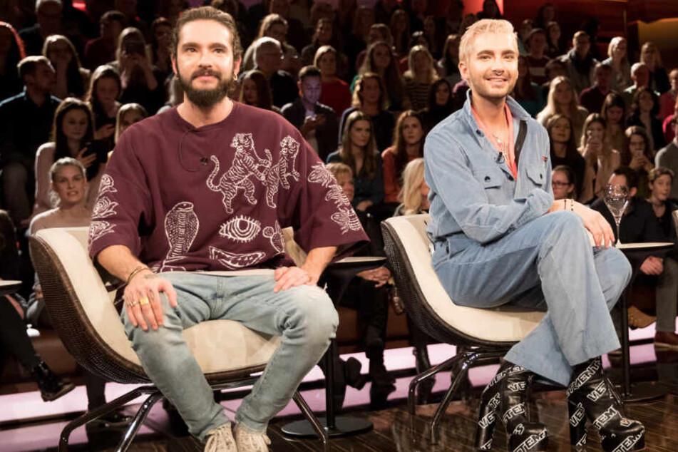 """Tom (links) und Bill Kaulitz waren zu Gast in der Talkshow """"Markus Lanz""""."""