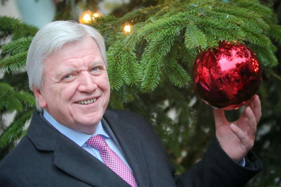 Ministerpräsident Volker Bouffier schickt seine Frau vor, wenn es um Geschenke geht.