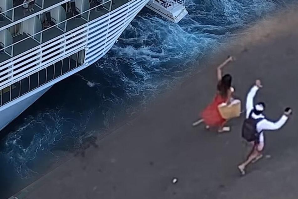 Schock im Urlaub: Kreuzfahrtschiff lässt Pärchen am Hafen zurück