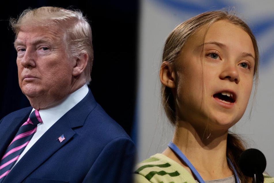 Donald Trump verspottet Greta Thunberg, die reagiert prompt