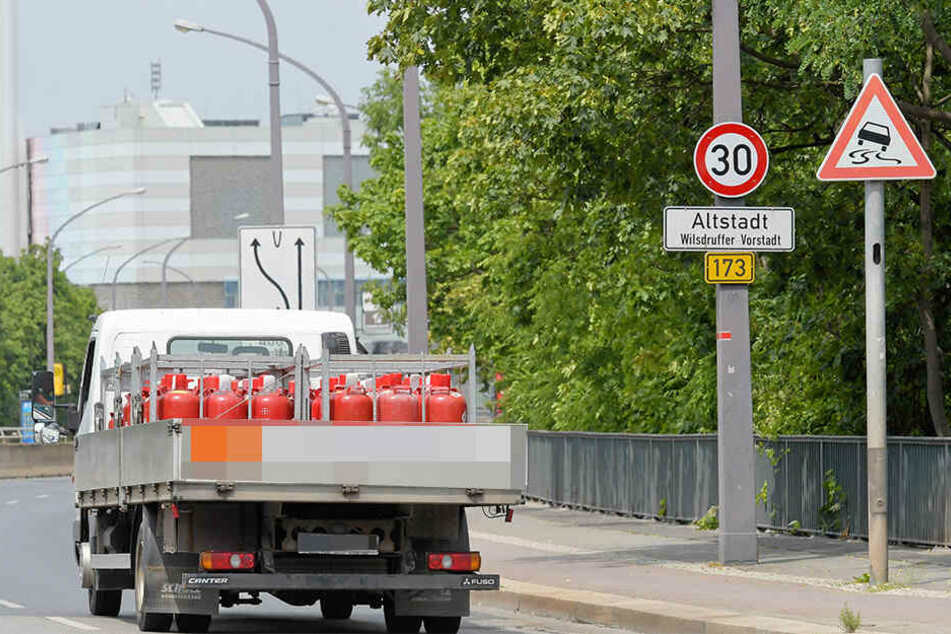 Auf der Nossener Brücke gilt seit Mitte Juni Tempo 30.