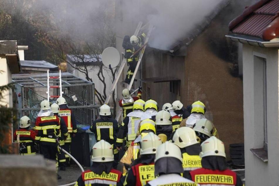 Insgesamt 72 Feuerwehrleute waren in Wilthen im Einsatz.