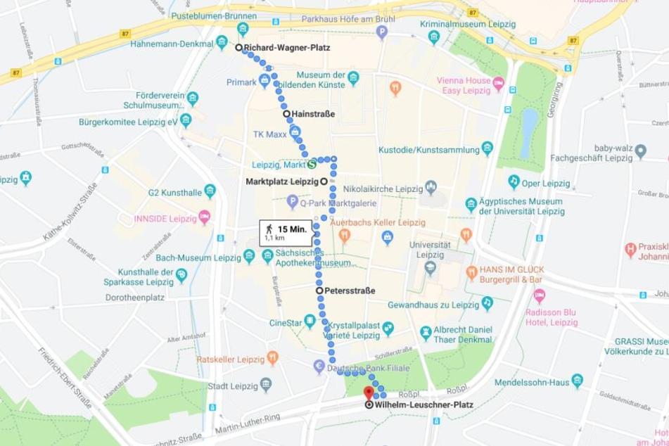 Der Demonstrationszug verläuft dieses Mal vom Richard-Wagner-Platz bis zum Wilhelm-Leuschner-Platz.