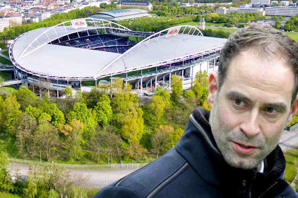 """Oliver Mintzlaff sei """"kein Fan von 57.000 Plätzen"""". Deshalb wird die Red Bull Arena vorerst nur auf rund 50.000 ausgebaut."""