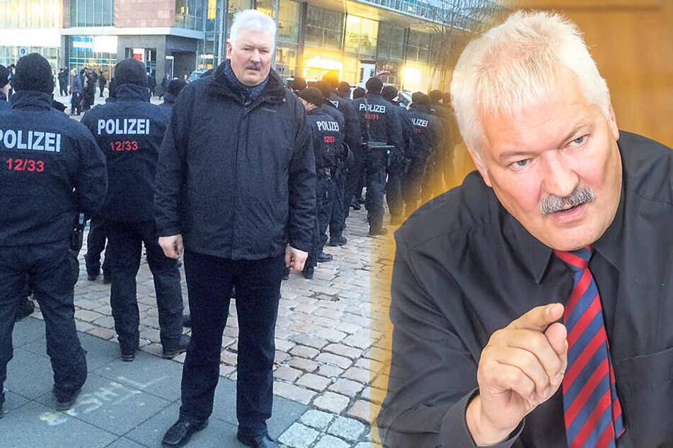 Zieht eine positive Bilanz für die ersten fünf Monate: Polizeichef Uwe Reiß- mann (61).