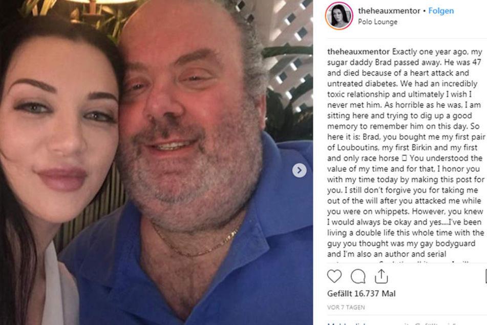 Amanda und ihr Sugar-Daddy Brad. Der 47-Jährige starb an einem Herzinfarkt.
