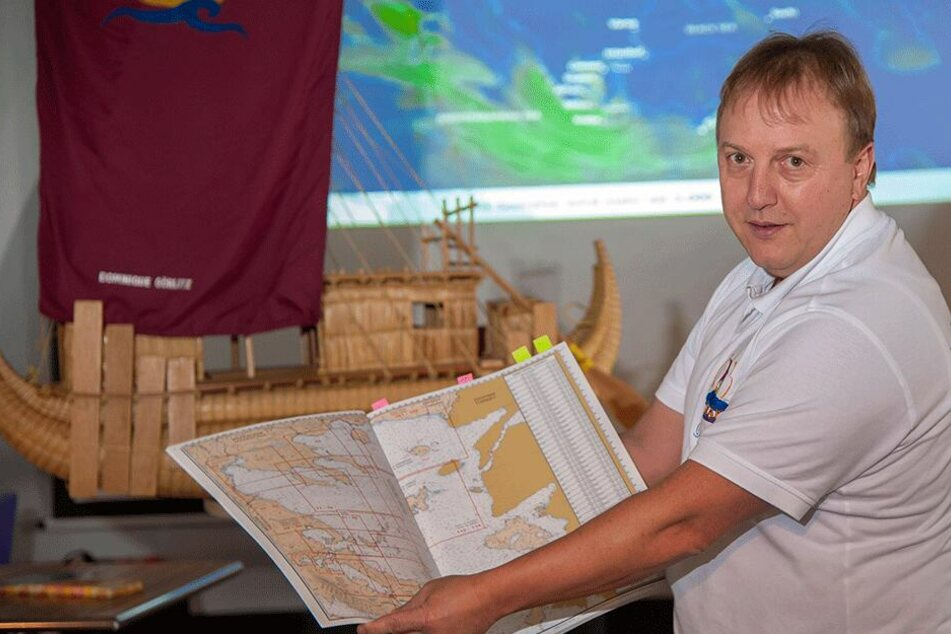 Experimentalarchäologe Dr. Dominique Görlitz (52) will im Juli über das Schwarze Meer segeln, um alte Handelsrouten nachweisen.