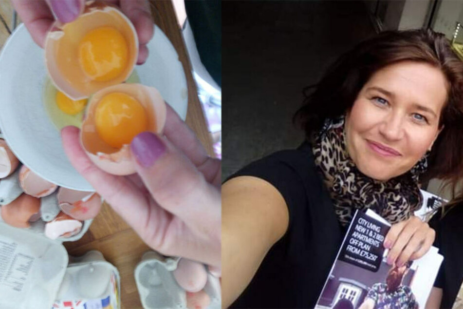 Mutter schlägt 14 Eier auf und kann nicht fassen, was sie in jedem einzelnen entdeckt