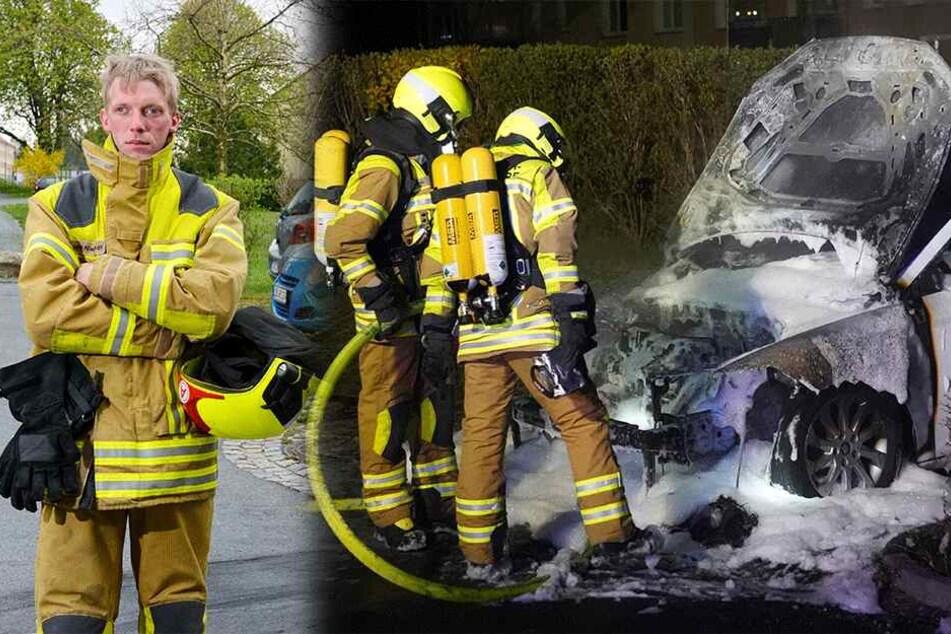 Dresden: Serienzündler fackelte auch Auto von Feuerwehrmann ab