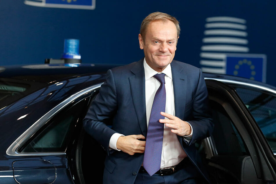 EU-Ratspräsident Donald Tusk kann sich auch mal eine geschmackvolle Krawatte leisten.