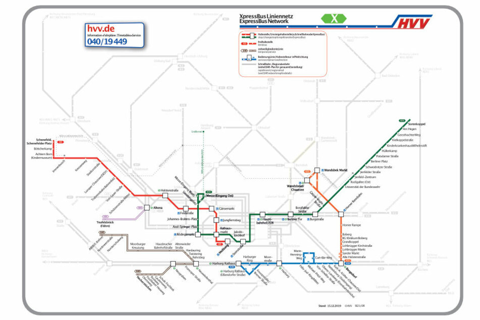 """Sechs neue """"Expressbus""""-Linien werden eingeführt."""