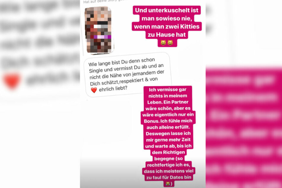 Das Bild zeigt den Screenshot einer Instagram-Story des Models vom gestrigen Freitag.