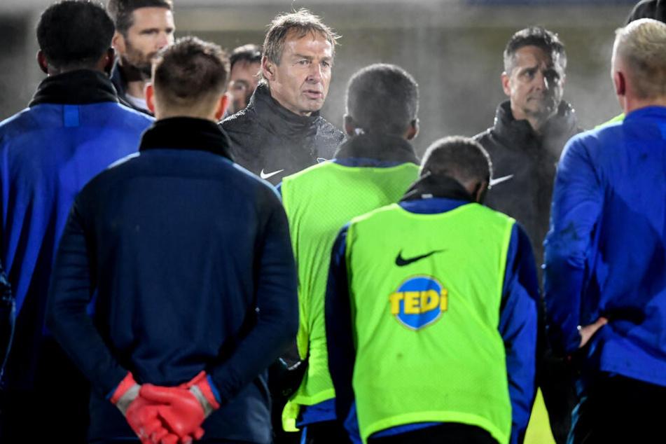 Hertha-Coach Jürgen Klinsmann will besonders an der Fitness der Berliner arbeiten.