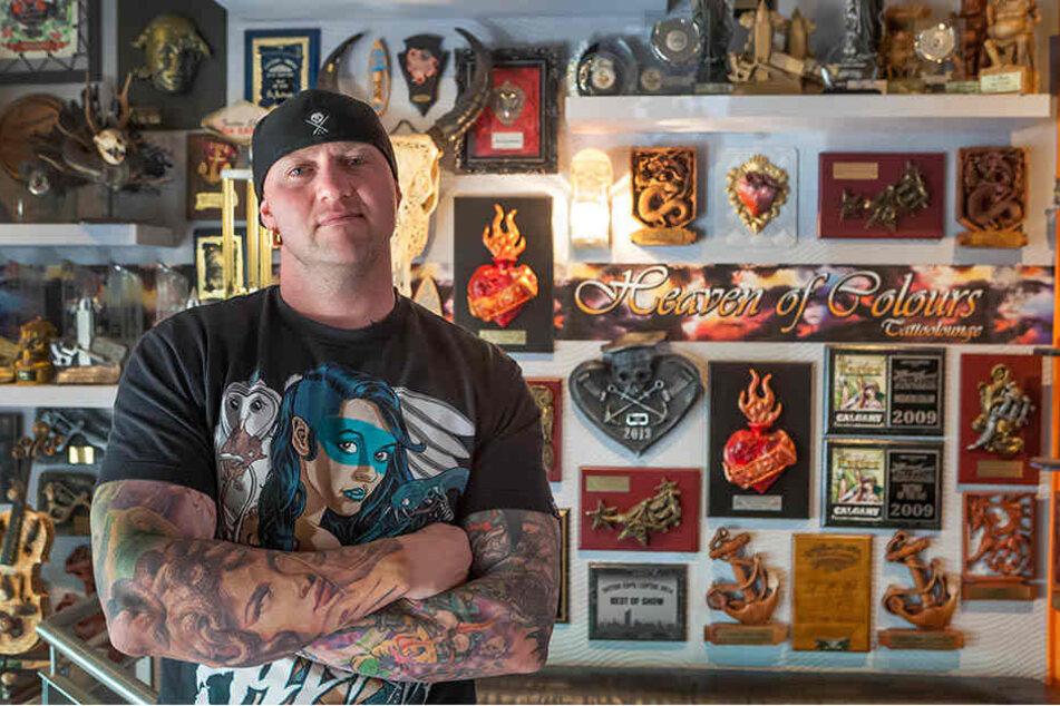 Randy Engelhard (39) ist ein Star der Tattoo-Szene. Jetzt hat er andere Größen nach Zwickau geladen.