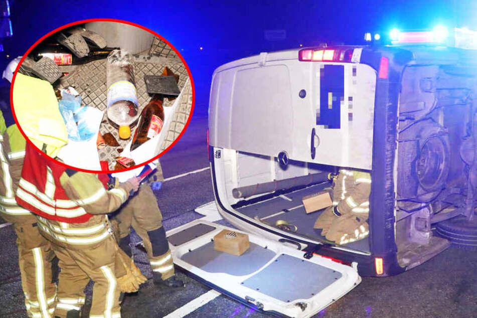 Heute keine Paket-Zustellung: Besoffener Transporter-Fahrer baut Unfall