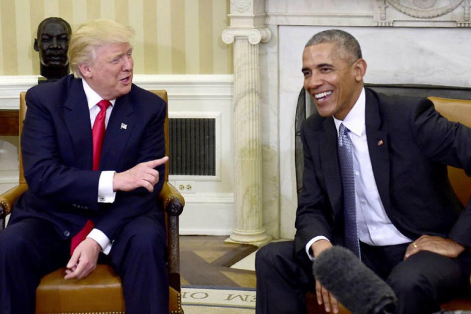 Donald Trump und Barak Obama bei ihrem ersten Treffen im Weißen Haus.