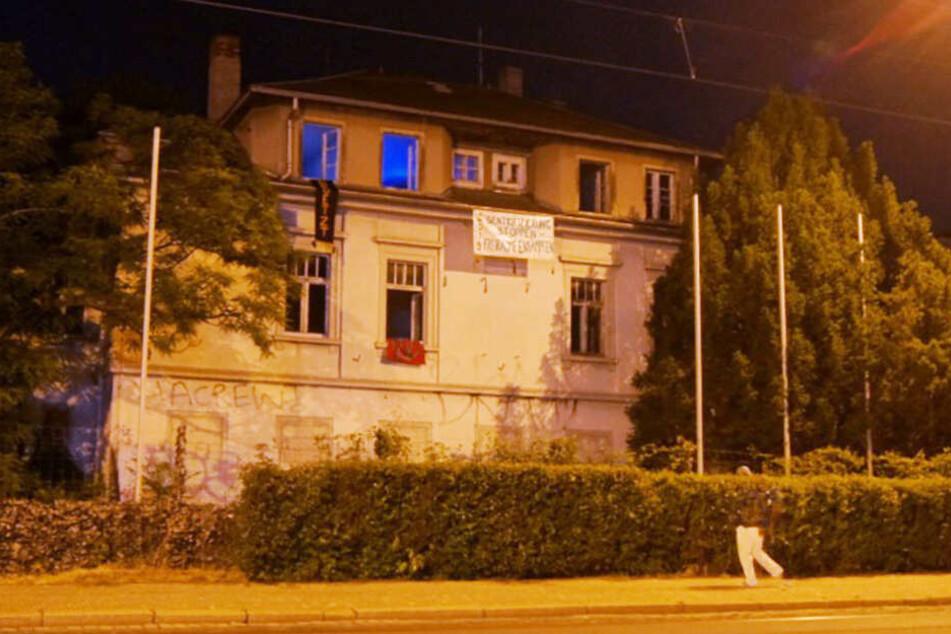 Ort der Besetzung: ein leerstehendes Haus an der Königsbrücker Straße 14 in der Dresdner Neustadt.