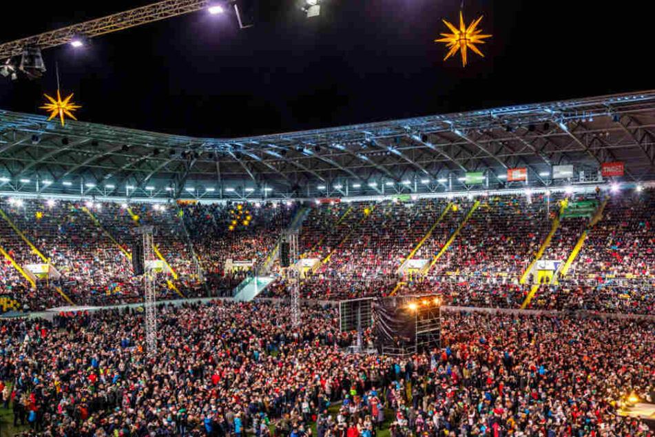 Auch in den vergangenen Jahren verzauberte der Kreuzchor im Stadion die Massen.