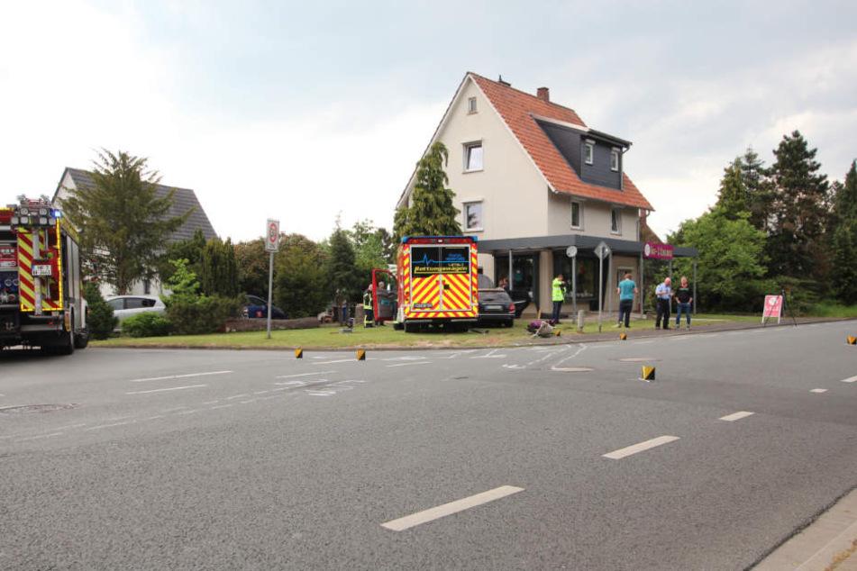 Die Eimterstraße musste rund zwei Stunden gesperrt werden.