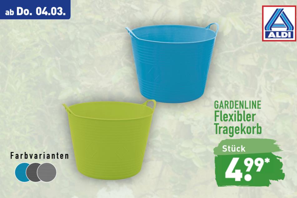 Flexibler Tragekorb von Gardenline ab Donnerstag für 4,99 Euro bei ALDI in Genthin