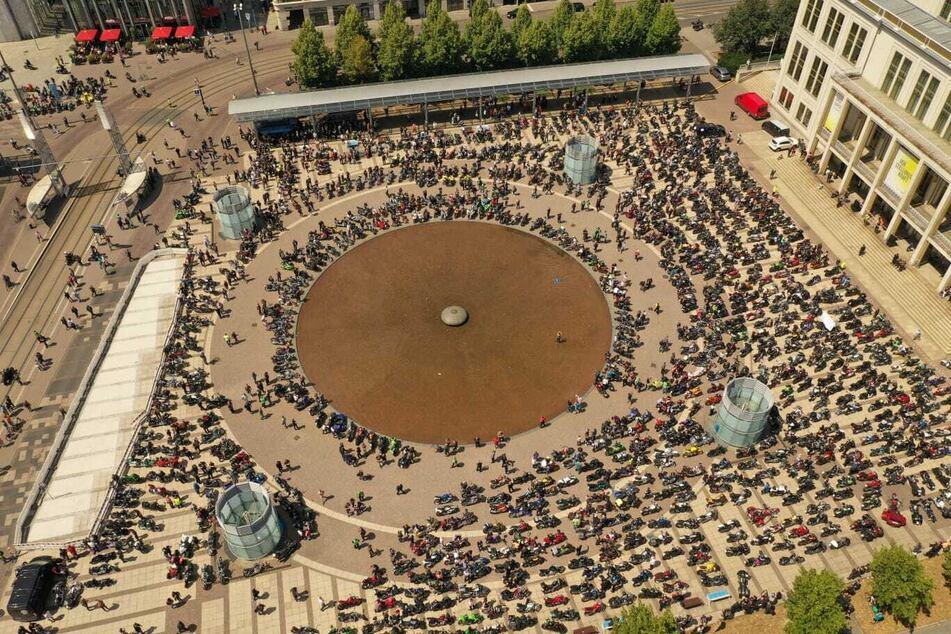 Biker-Demo in Leipzig mit über 16.000 Maschinen: Die besten Bilder