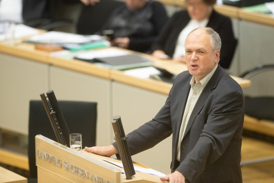 Der Vize-Fraktionsvorsitzende und bildungspolitische Sprecher der Linken im Landtag, Thomas Lippmann (59).