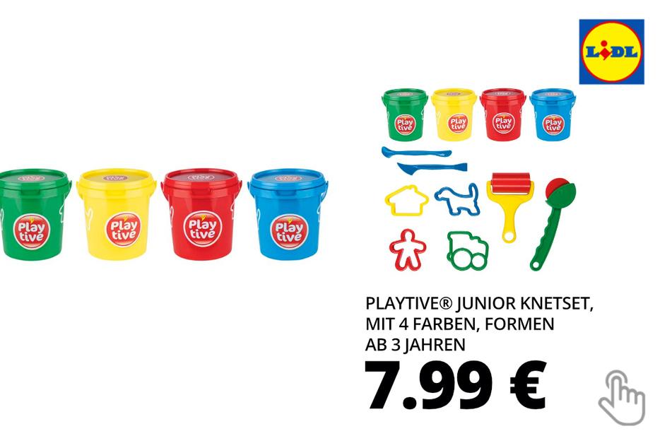PLAYTIVE® JUNIOR Knetset, mit 4 Farben, Formen