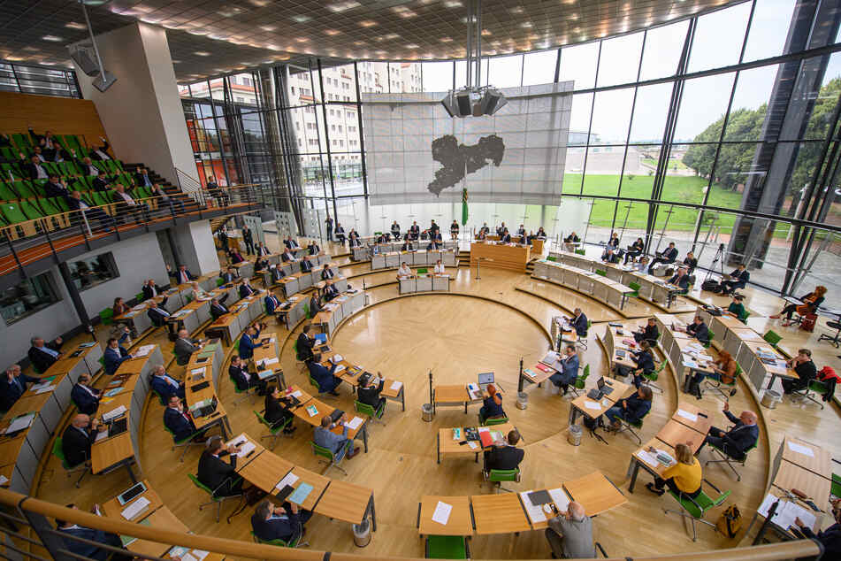 Beim sächsischen Landtag ging es während einer Debatte heiß her. (Symbolbild)