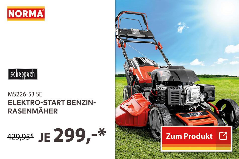 Elektro-Start Benzin-Rasenmäher für 299 Euro