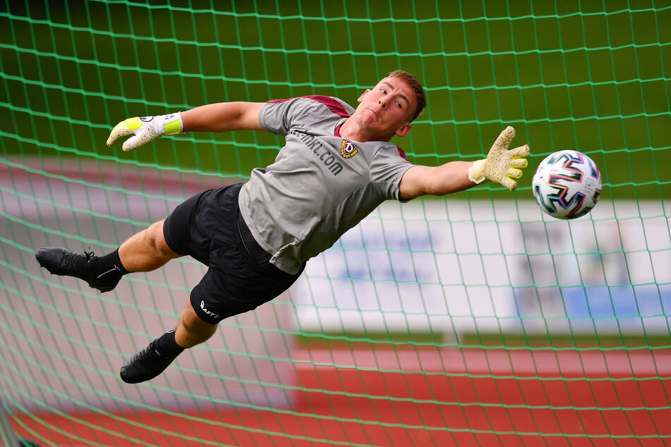 Auch Dynamos Schlussmann Kevin Broll blieb dem Verein trotz des Abstiegs treu - mit dem Happy End Wiederaufstieg?