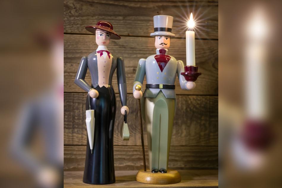 Dieses elegante Paar aus der Werkstatt von Markus Füchtner (40) wurde für Disneyland Paris in großer Stückzahl gefertigt.
