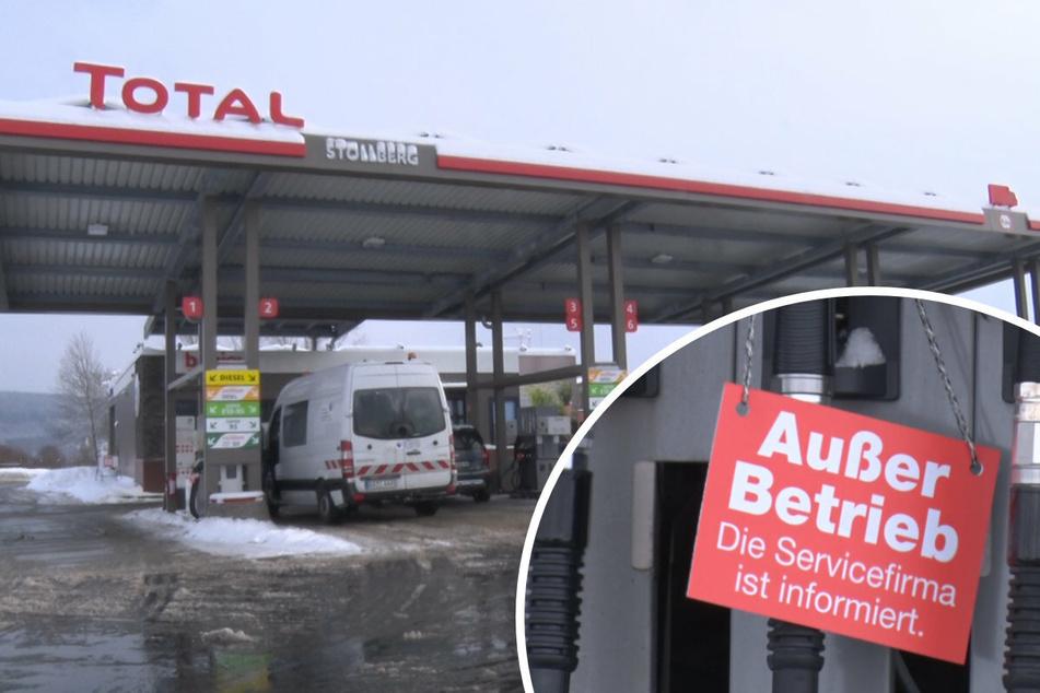 In der Bundesstraße 180 hatten Dieselfahrer am Dienstag schlechte Karten. Der Nachschub kam nicht bis nach Stollberg durch.