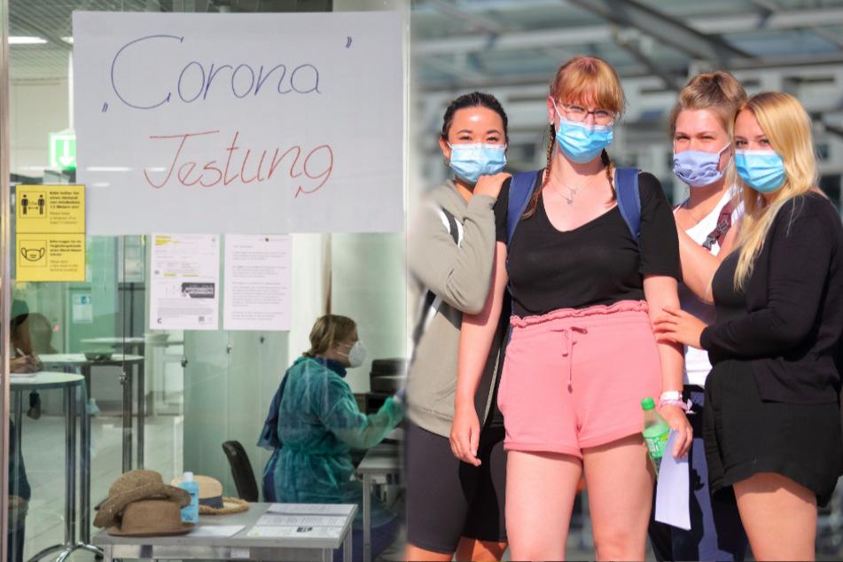 Riesenaufregung am Dresdner Flughafen: Wir kommen gerade aus dem Risikogebiet Mallorca