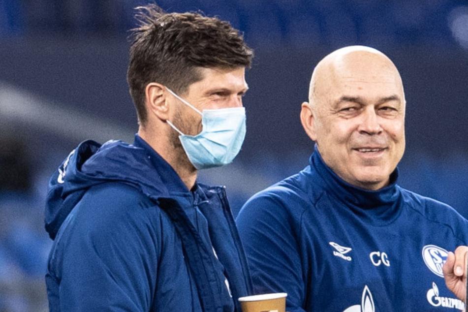 Klaas-Jan Huntelaar (37) und Trainer Christian Gross (66). Schaffen sie noch die Wende mit Königsblau?