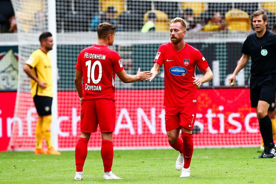 Marc Schnatterer (35, 2.v.r.) erzielte in 455 Einsätzen für den 1. FC Heidenheim 122 Tore und gab zudem noch 128 Vorlagen.