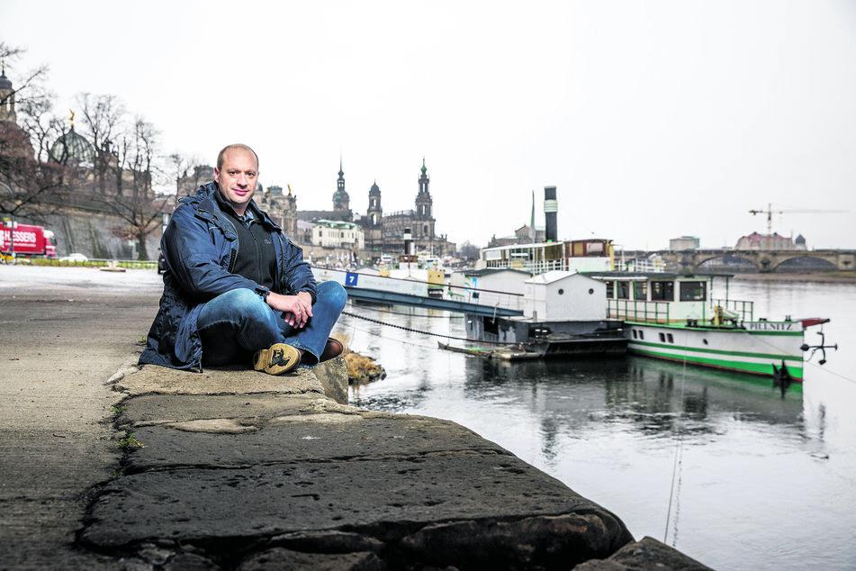 """Flottendisponent Jochen Haubold (42) ist sich sicher, dass die Fahrten mit der """"Pillnitz"""" ins Böhmische gut angenommen werden."""