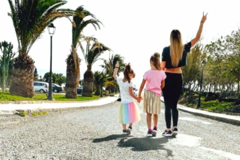Zwischen den Jahren flog Anne Wünsche (29) mit Kumpel und Kindern nach Lanzarote.