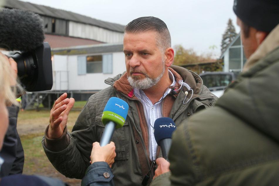 """Thorsten Heise (51), Mitglied im Bundesvorstand der NPD und Veranstalter des Neonazi-Festivals """"Schild & Schwert""""."""