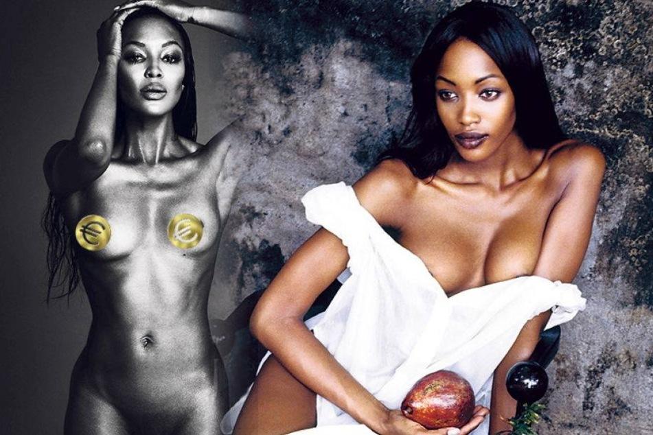 So heiß ist Naomi Campbells Nackt-Buch