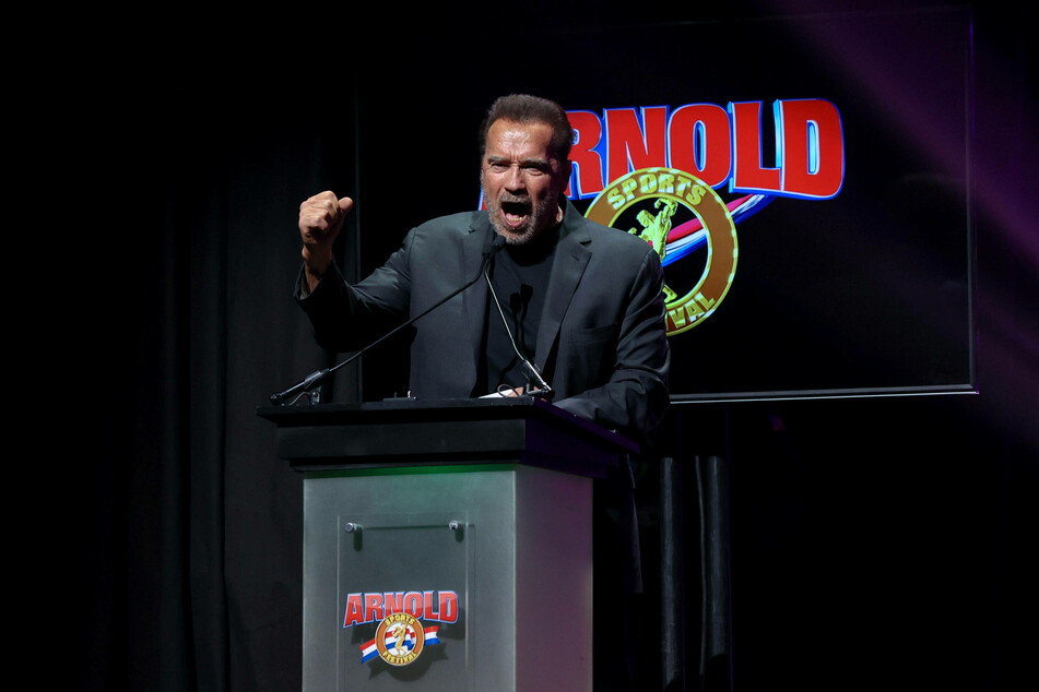 Arnold Schwarzenegger at the Arnold Sports Festival in Columbus, Ohio.